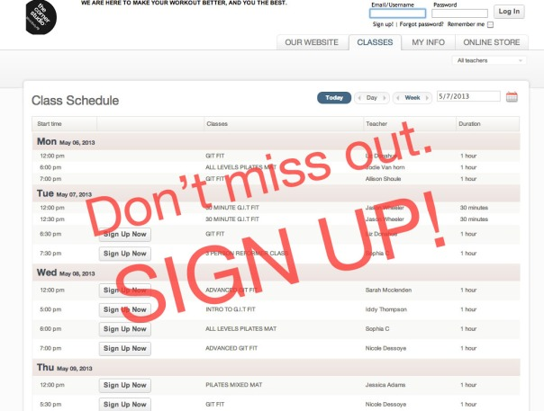 signup screenshot